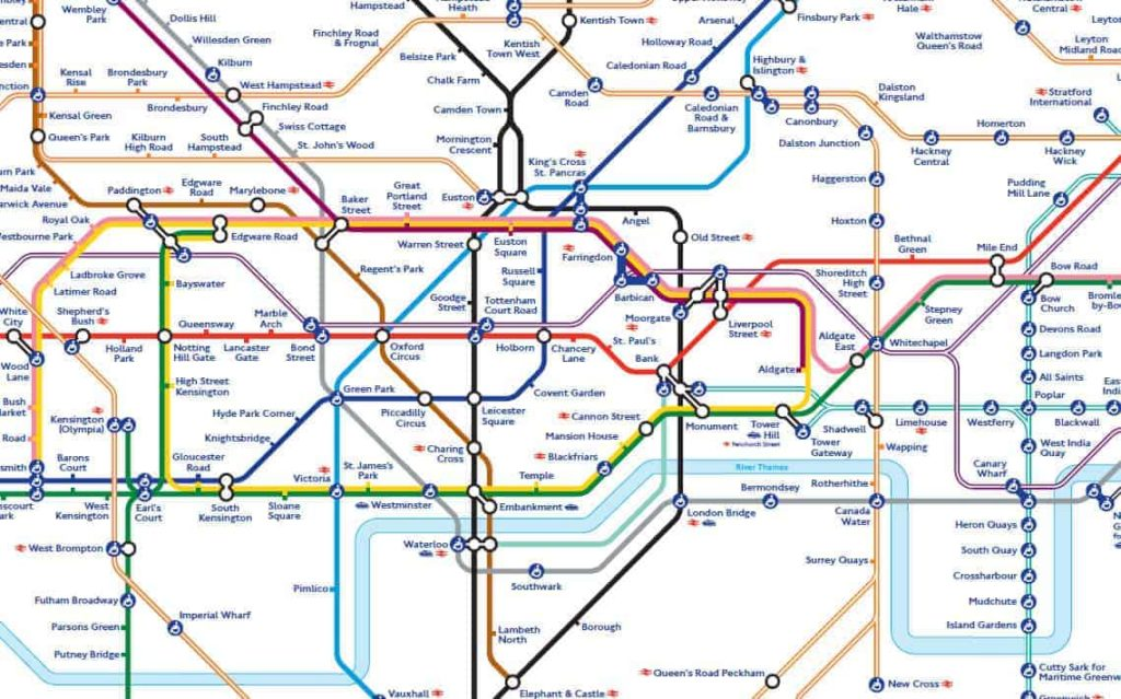 London tube map explained on